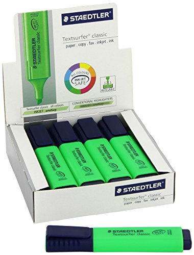 Staedtler Textsurfer Classic Highlighter Inkjet-safe Line Width 2.5-4.7mm Blue Ref 3646 [Pack of 10]
