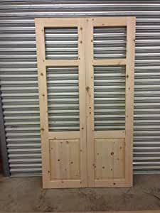 SOFTWOOD EXTERNAL FRENCH DOORS WITH FRAME STYLE 5 (2100MM H X 2100MM W)
