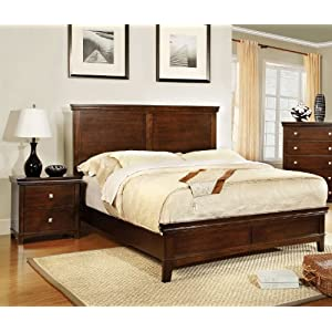FURNXiture of America Pasha 3-Piece California King Platform Bedroom Set with Two-Nightstands