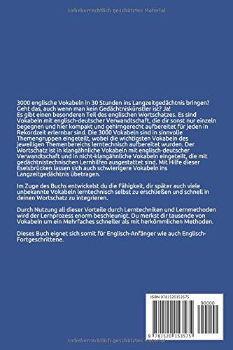 Englisch mal anders - 3000 Vokabeln in 30 Stunden: Systematisches ...