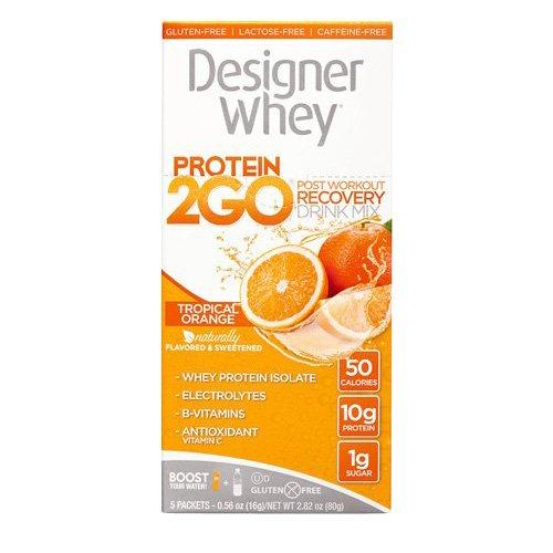 Designer Whey Protein To Go paquets, Orange, 5 comte