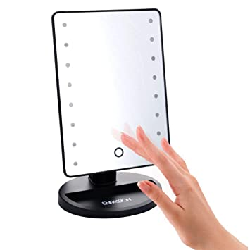 Lovely 16 LED Makeup Mirror With Lights And Tray   Hollywood Backstage Portable Tabletop  Vanity Mirror (