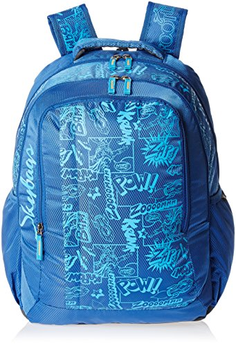 Skybags Helix 29.5 Ltrs Blue Casual Backpack (BPHELFS2BLU)