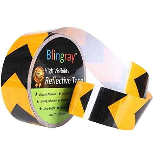 Blingray High Visibility Arrow Reflective tape, 2