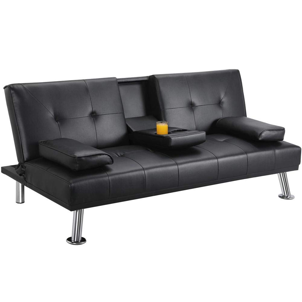Amazon Com Used Sofas Couches Living Room Furniture >> Amazon Com Topeakmart Futon Couch Bed Reclining Futon Sofa