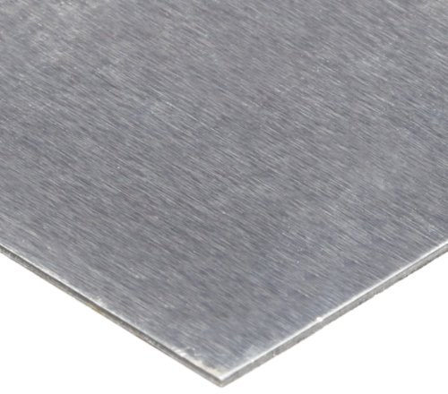 1100 Aluminum Shim Stock, AISI 1100-H18/AMS 4013, 0.021'' Thick, 24'' Width, 24'' Length, 0.003'' Laminate Layers by Small Parts