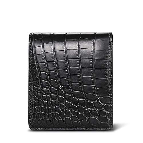 - EEKUY Men's Leather Business Wallet, Nile Crocodile Whole Belly Belly Ostrich Leather Lining Can Be Placed in Cash Bank Card 4.3×3.5×0.6''