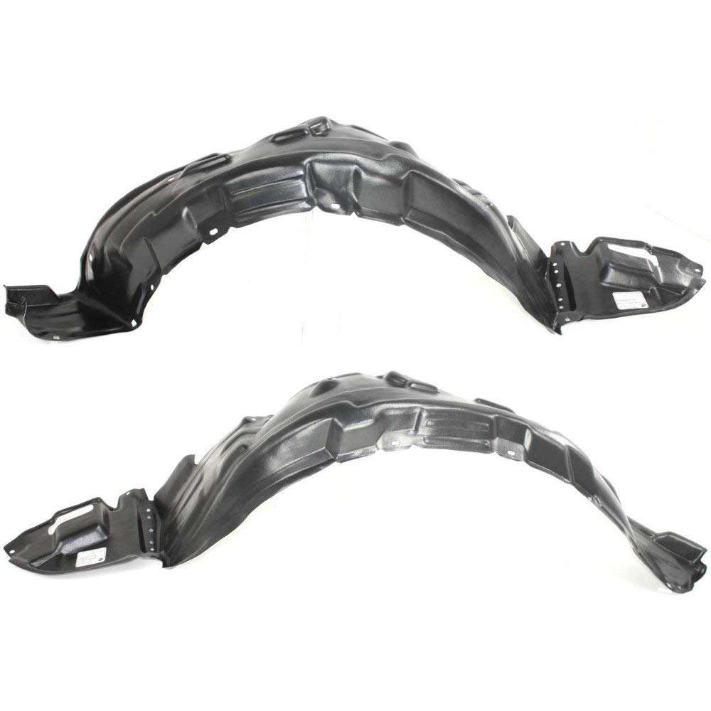 Fender Liner Set Compatible with 2003-2008 Toyota Corolla Front Left & Right Side Plast. Pr.