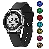 Kids Digital Watches, Boys Girls Sports Outdoor 50m Waterproof Electrical Wristwatch with Alarm Stopwatch Reminder for Age 4-16 Child Young Teen