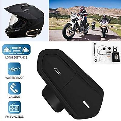 DUBAOBAO Bluetooth motorcycle helmet walkie-talkie  DSP noise reduction wind sound processing  1000 meters intercom distance  waterproof Bluetooth walkie-talkie  two colors