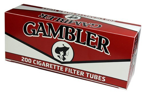 Gambler REGULAR KING SIZE RYO Cigarette Tubes 200ct Box (5 Boxes) by Gambler