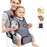 Unihope Baby Carrier with Hip Seat and Baby Diaper Bag 2-in-1