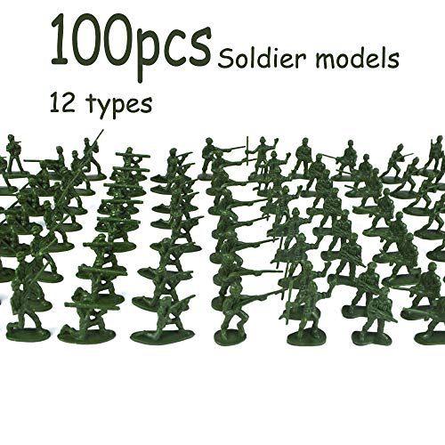 Euone  Christmas, 100 pcs Military Playset Plastic Toy Soldiers Army Men 3.8cm Figures