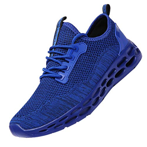 DUORO Men's Athletic Running Shoes Fashion Sneakers Walking Casual Shoes for Men Tennis Baseball Shoes (US 7.5 245, Blue)