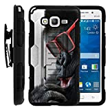 Galaxy Grand Prime Case, Holster, Duo Layer Combo High Impact Armor w/ Kickstand - Animals Collection - for Samsung Galaxy Grand Prime SM-G530 by MINITURTLE - Gorilla with Sunglasses