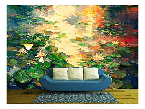 The Oil Painting of Lotus Pool