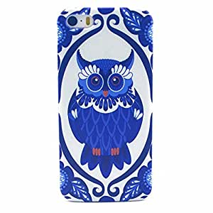 PowerQ [for Iphone5C IPhone 5C - Blue and White Owl] Colorful Pattern Plastic Series Case Bag Pattern Print Printing Drawing Cell Phone Case mobile Cover Protect Skin