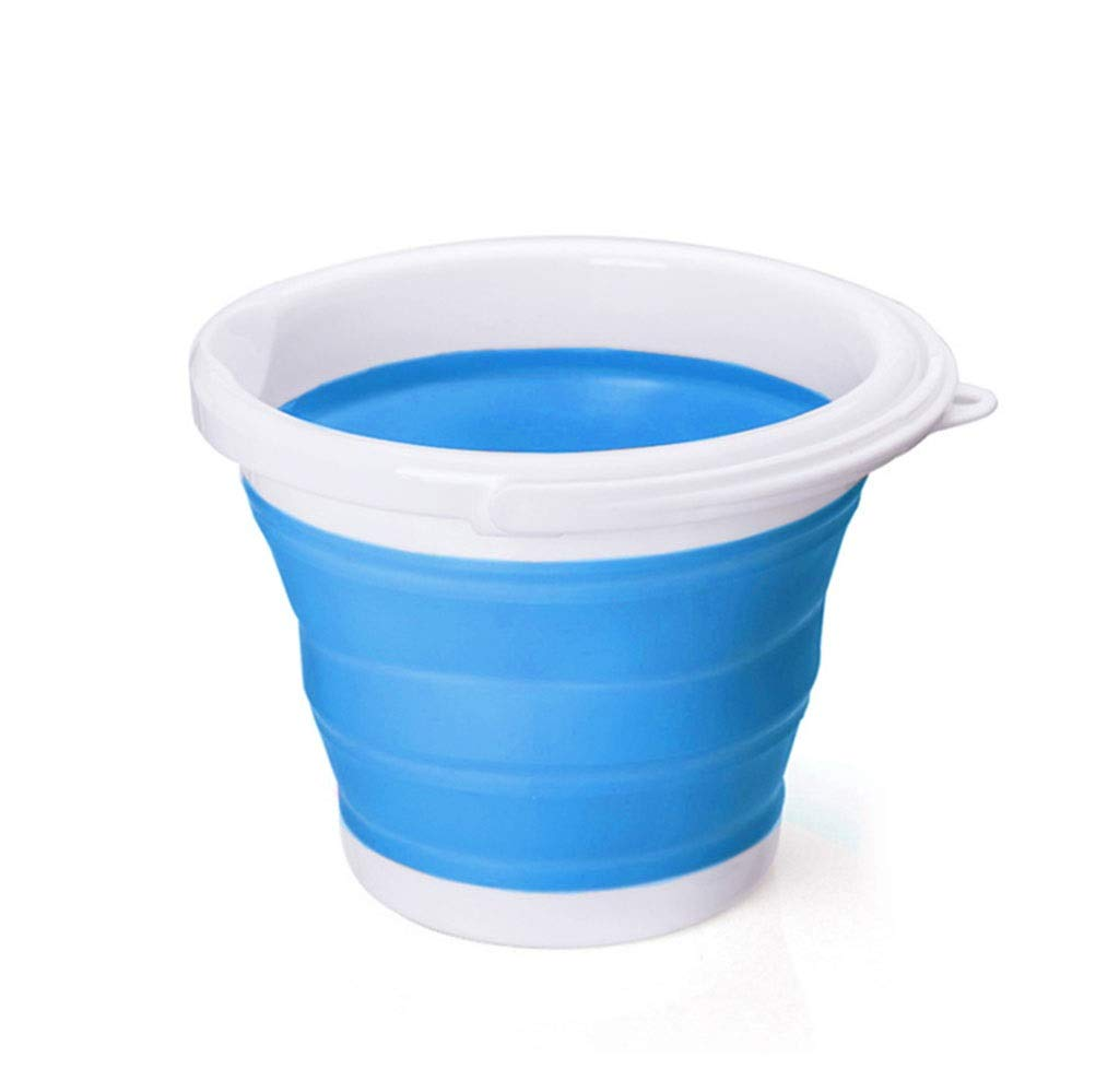 JHDPH3 Collapsible Wash Basin & Bucket Set Folding Camping Caravan Space Saver (Color : Blue) by JHDPH3