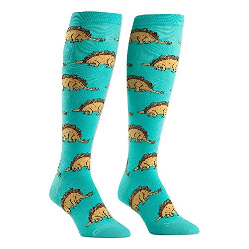 Sock It to Me, Tacosaurus, Wide Calf, Unisex Stretch-It Knee High Socks (Best Foods To Improve Circulation)