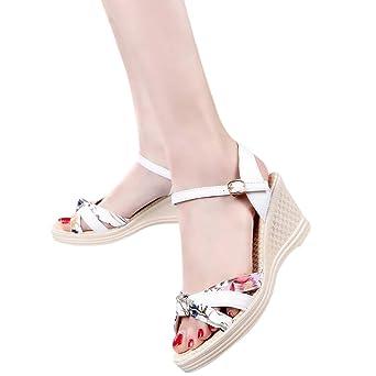 Sandalen High-heeled Mode Strand Schuhe (schwarz/blau/grau/rosa) stilvoll (Farbe : Blau, größe : 40)