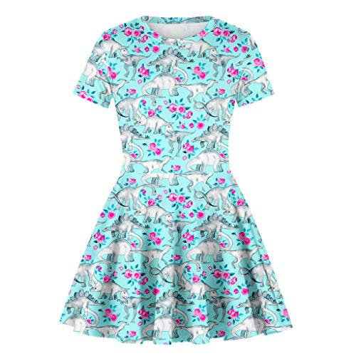 (Blue, Recommended Age:9-10 Years,Tag Size:L) Blue Maternity Dress for Baby Shower, Birthday Dress for Baby Girl 1 Year, Flower Girl Dress Tulle, Little Girl Dress Up, Flower Girl Dress Burgundy]()