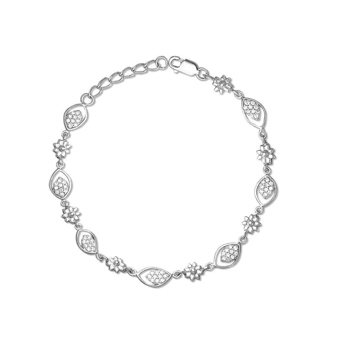 Taraash 925 Sterling Silver Floral Shape Bracelet for Women BR1780R