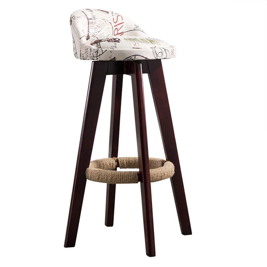 C-K-P Massivholz Barhocker Retro-Hochstuhl Retro-Hochstuhl Retro-Hochstuhl 360 ° Drehstuhl Stuhl Holzstuhl Modernen Stil hoch 70cm B07H2Y7R5D | Nutzen Sie Materialien voll aus  3d1adc