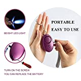 Personal Alarm Keychain FansArriche 3 PACK Safety Security Devices 130 DB with LED light,Emergency Safe Sound Personal Alarms for Women/Kids/Girls/Elderly Self Defense Protection (SILVER+PURPLE+BLUE)