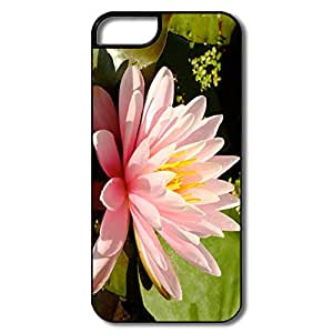 Popular Custom Cases Pink Water Lily Design Your Own Cases For Iphone 5/5s