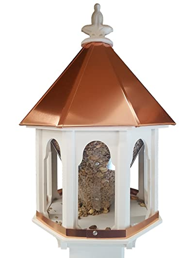 NC Birdguy Wild Bird Feeder Solid Cellular PVC Clear Copper Roof