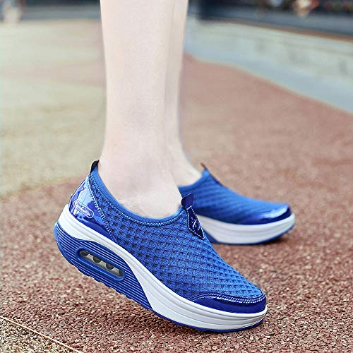 Thick Bottom Casual Outdoor Soft Blue Sneakers Shoes Womens Holywin Mesh Shoes Sports Soled xwpf6YYq