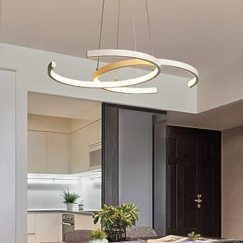 Lámpara de techo LED para comedor, comedor, salón, lámpara con regulación continua, iluminación moderna, diseño elegante, lámpara de techo con mando a distancia acrílico, lámpara de techo: Amazon.es: Iluminación