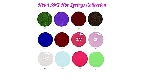 Amazon.com : SNS Nail dipping powder Gelous color - 12 NEW Colors SPRINGS Collection : Beauty
