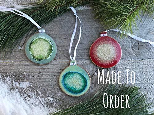 Sphere Geode Crackle Ornament, Custom Ornament, Decorative Ornament, Christmas Ornament, Geode Ornament, Vintage Ornament, Classic Ornament (Best Places To Visit In Minneapolis)