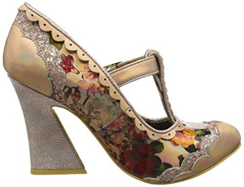 Irregular Choice Rum Punchm, Zapatos de Tacón mujer Oro (Light Gold)