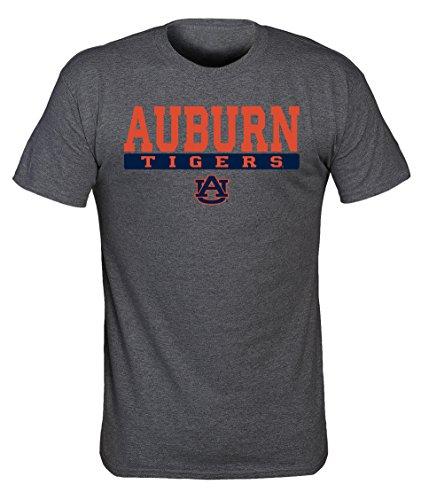 NCAA Auburn Tigers Mens NCAA Screenprinted Poly Cotton Blend Tee, Dark Heather, (Ncaa Auburn Tigers Golf Tee)