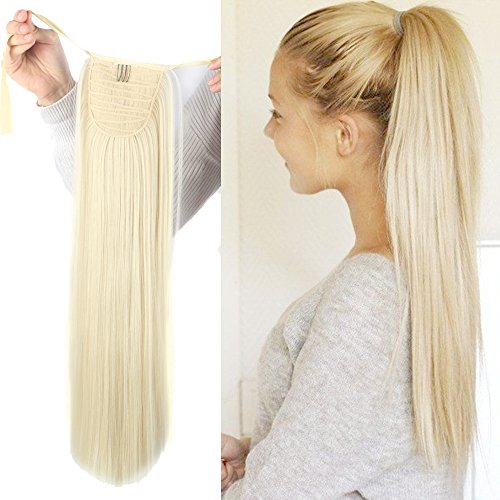 Hair Ponytail Extension (Haironline One Piece Tie Up Ponytail Clip in Hair Extensions Hairpiece Binding Pony Tail Extension for Girl Lady Woman)