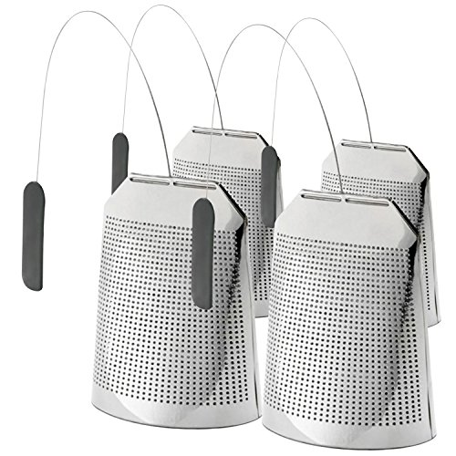 Flourish and Thrive, Reusable Stainless Steel Gourmet Tea Bags, 4-pack