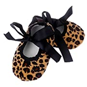 Clearance ! Newborn Shoes,kaifongfu Kids Baby Bowknot Leopard Printing Shoes Newborn Cloth Shoes (11❀❀Age:0~6 Month, Brown)