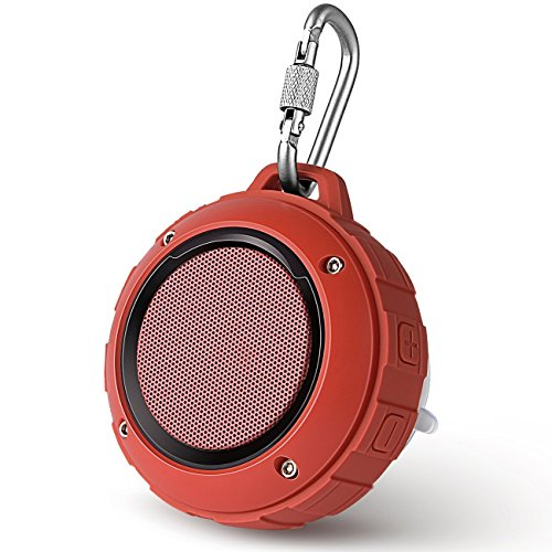 [해외] BLUETOOTH 스피커 LENRUE F4 미니 wireless 스피커 IP45 방수&방진 인증 마이크 내장 고음질 아웃도어 스피커 TF 카드 대응/IPHONE / IPAD/ANDROID /테블릿 등에 대응 (레드)