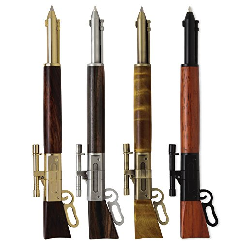 Penn State Industries PKLEVSS Lever Action Click Ballpoint Pen Kit Starter Package Woodturning Project (Without Metal Gunstock)
