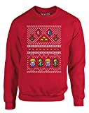 Best BROTHER Ocarinas - Brand88 Hyrule Christmas, Kids Sweatshirt - Red 3-4 Review