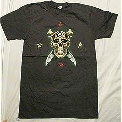Vince Neil Ink Gray Concert T Shirt Small
