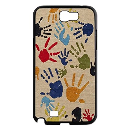 Cathyathome Handprint Samsung Galaxy Note 2 Cases Finger Paint Protector For Girls