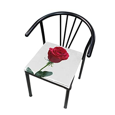 "Bardic HNTGHX Outdoor/Indoor Chair Cushion Flower Rose Print Square Memory Foam Seat Pads Cushion for Patio Dining, 16"" x 16"": Home & Kitchen"