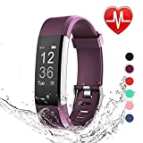 LETSCOM Fitness Tracker HR, Heart Rate Monitor Watch, IP67 Waterproof Activity Tracker with Step Counter and Sleep Monitor, Pedometer Watch, Smart Wristband for Kids Women and Men
