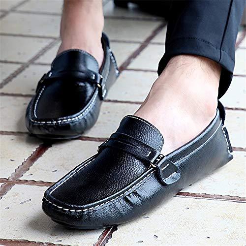 Slip Zapatos ons Mocasines Conducción Primavera Nuevos Oficina black Hombre Noche fei Fiesta Gpf otoño Para Flat 48 Y Casuales Carrera pwvgnxR