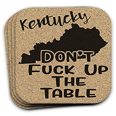 Kentucky State Gift Souvenir 4pc Cork Coaster Set