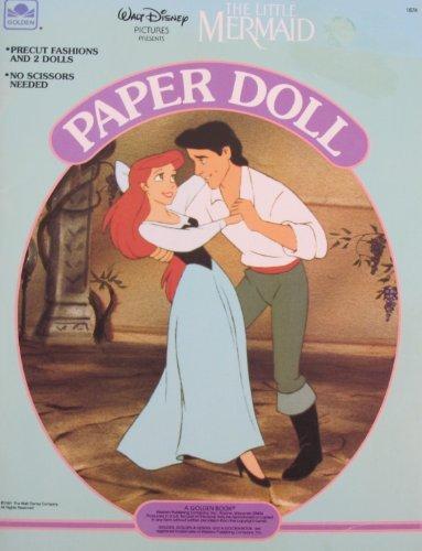 Walt Disney The LITTLE MERMAID PAPER DOLL Book UNCUT w Ariel & Prince Eric Dolls (1991 Golden) by Unknown