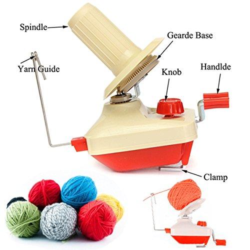 Hand Operated Plastic Winder Machine Yarn Fiber Wool String Ball Winding Machine